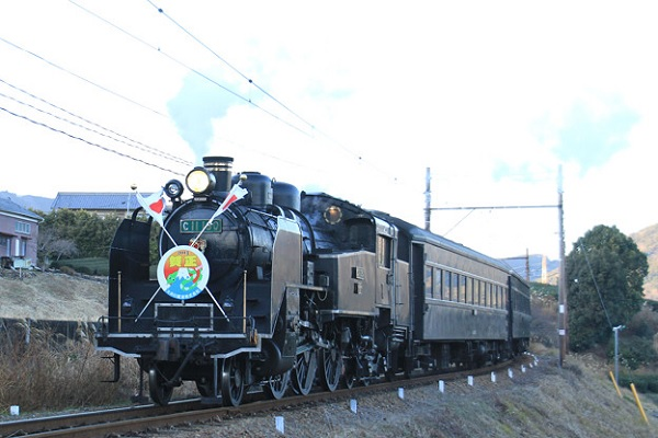 The SL train ride of Oigawa railroad